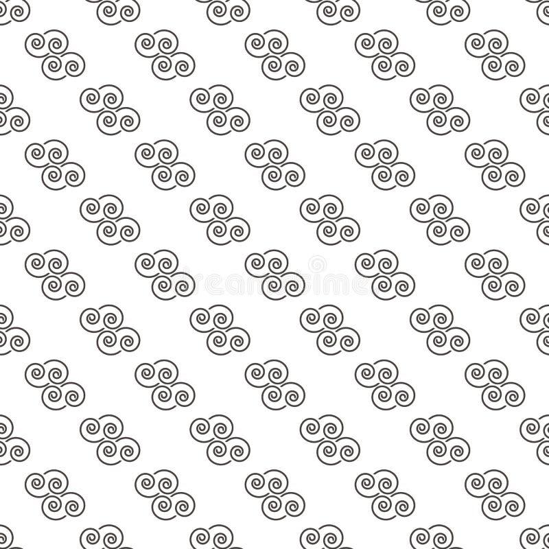 Muster-abstrakte geometrische Tapeten-Vektorillustration Backgr vektor abbildung