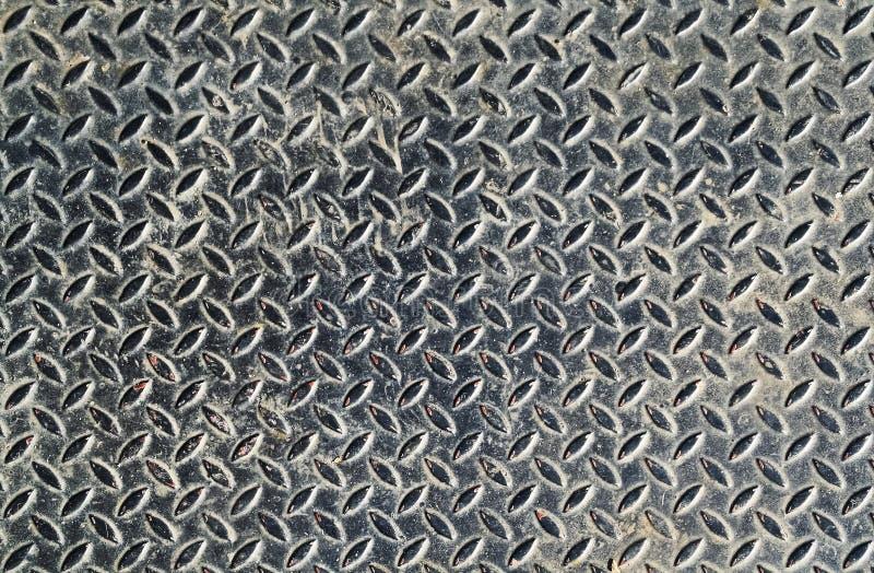 Muster auf Eisenplatte stockfoto