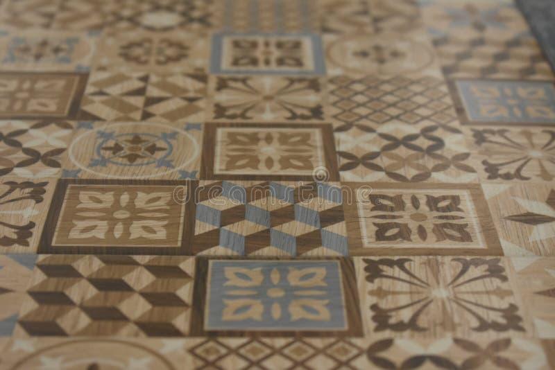 Muster auf Keramikfliesen Dekoration des Innenwanddesigns der Bürowohnungen lizenzfreies stockbild