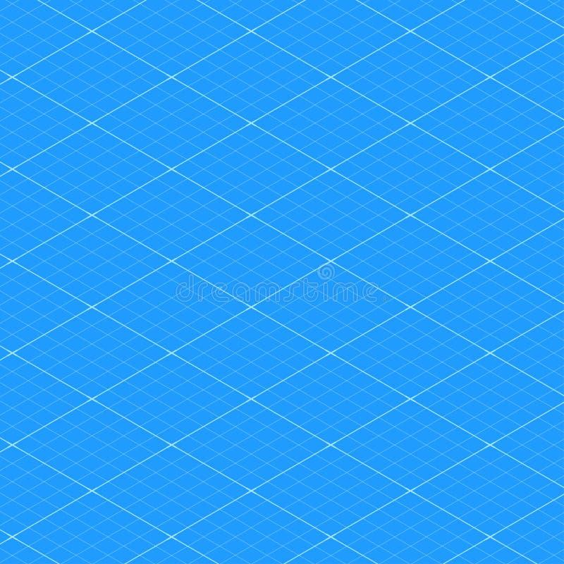Muster-Beschaffenheitshintergrund des isometrischen Plangitters nahtloser Auch im corel abgehobenen Betrag vektor abbildung