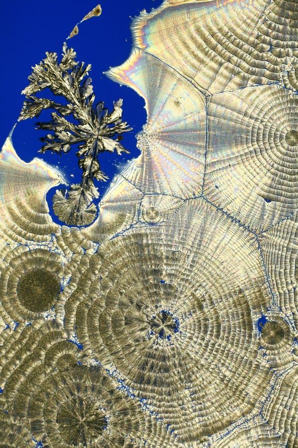 Muster in den Kristallen lizenzfreie stockfotos