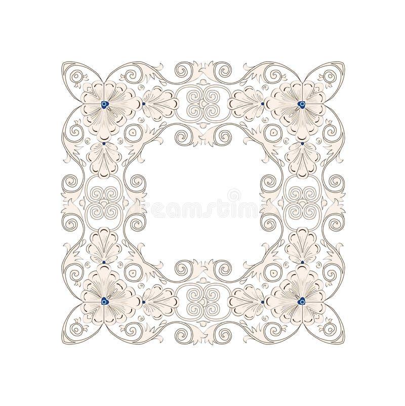 Muster in der antiken byzantian Art vektor abbildung