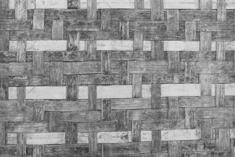 Muster der Bambusbeschaffenheit auf Wand für Hintergrund vektor abbildung