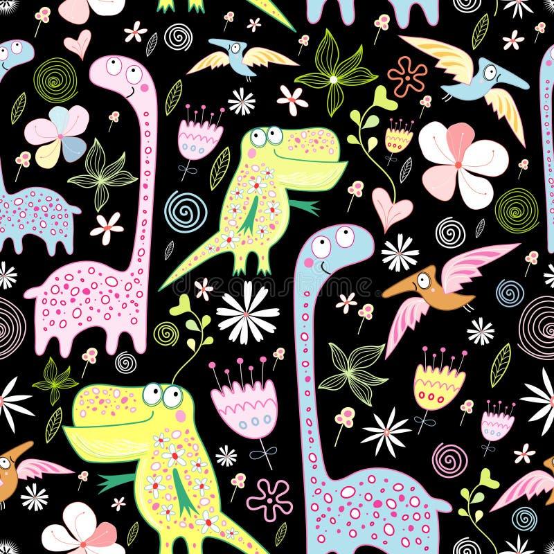 Muster der Dinosauriere vektor abbildung