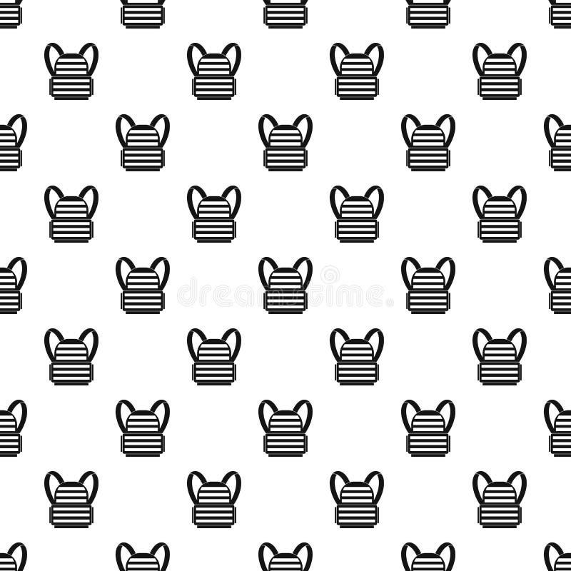 Muster der kugelsicheren Weste, einfache Art lizenzfreie abbildung