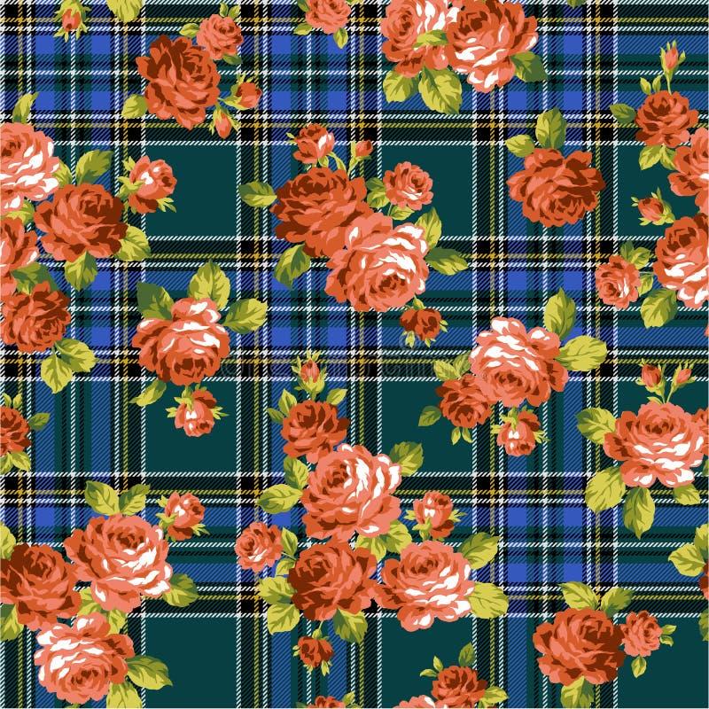 Muster der Rose, stock abbildung
