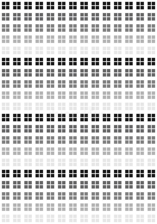 Muster der schwarzen u. weißen Quadrate vektor abbildung