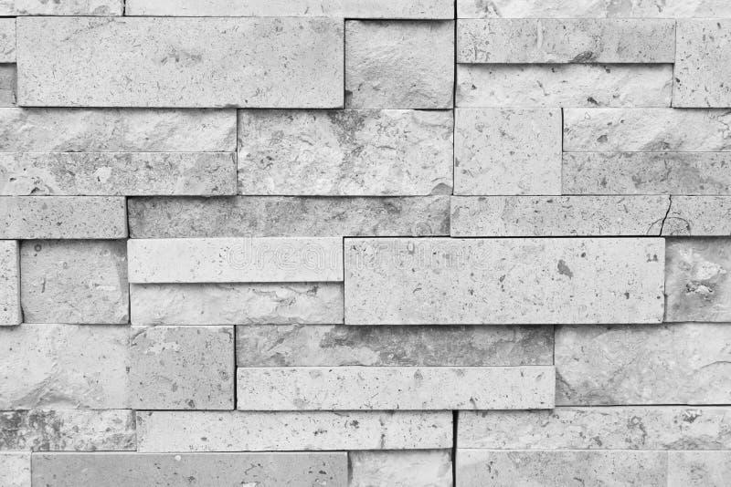 Muster der Steinwand des dekorativen weißen Schiefers für Hintergrund lizenzfreie stockbilder