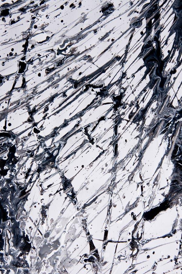 Muster des abstrakten Expressionismus Art der Tropfenfängermalerei Schwärzen Sie lizenzfreies stockbild