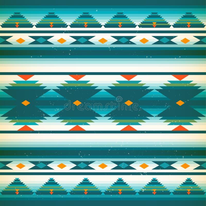 Muster des amerikanischen Ureinwohners Vektorindianer stock abbildung
