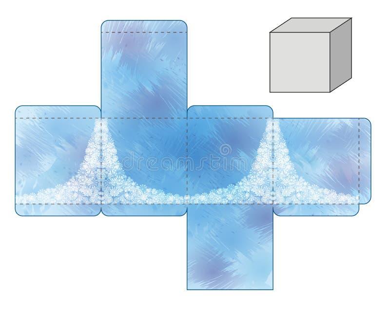 Muster des blauen Kastens stockfoto