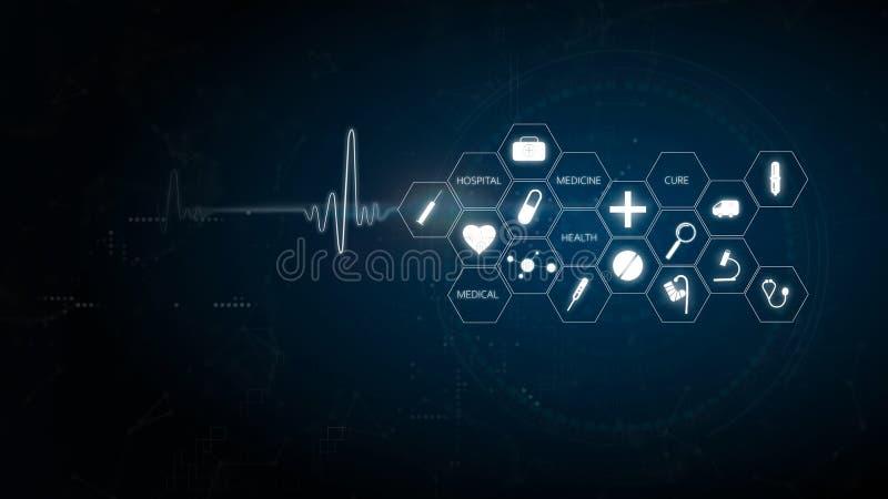 Muster des Gesundheitssymbols und der medizinischen Innovation vektor abbildung