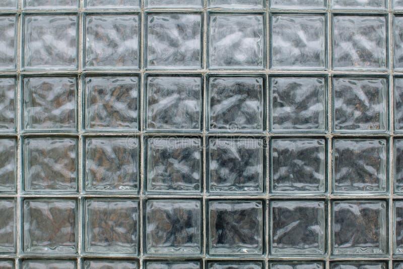 Muster des Glasbeschaffenheitsblock-Wandhintergrundes stockbilder