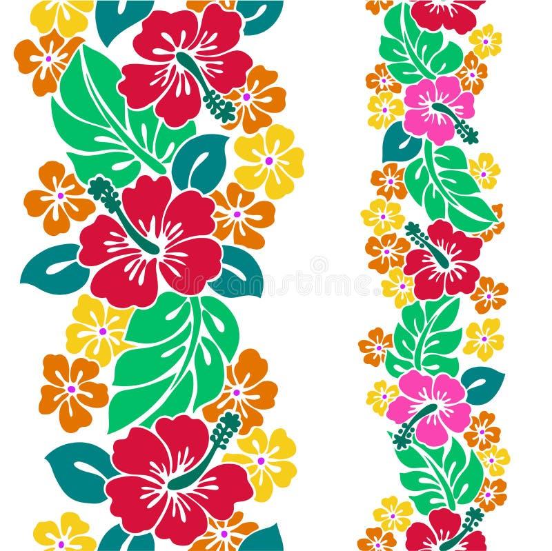 Muster des Hibiscus stock abbildung