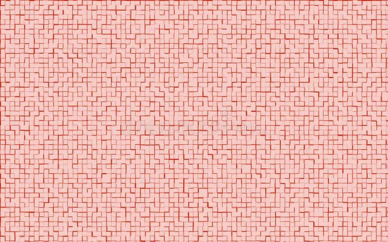 Muster des Mosaiks rote Farb entziehen Sie Hintergrund lizenzfreie stockfotos
