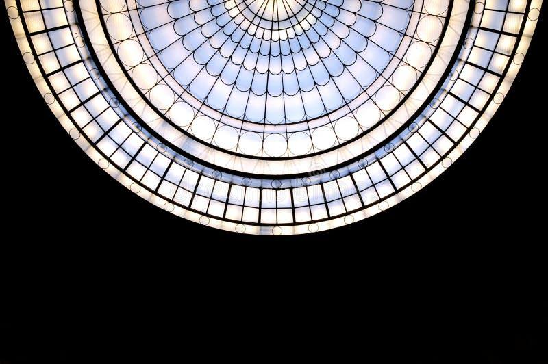 Muster des Oberlichtes stockbild