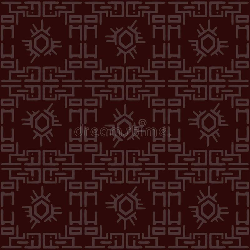 Muster des traditionellen Chinesen, nahtlose asiatische Beschaffenheit Abstrakter geometrischer dekorativer Hintergrund stock abbildung