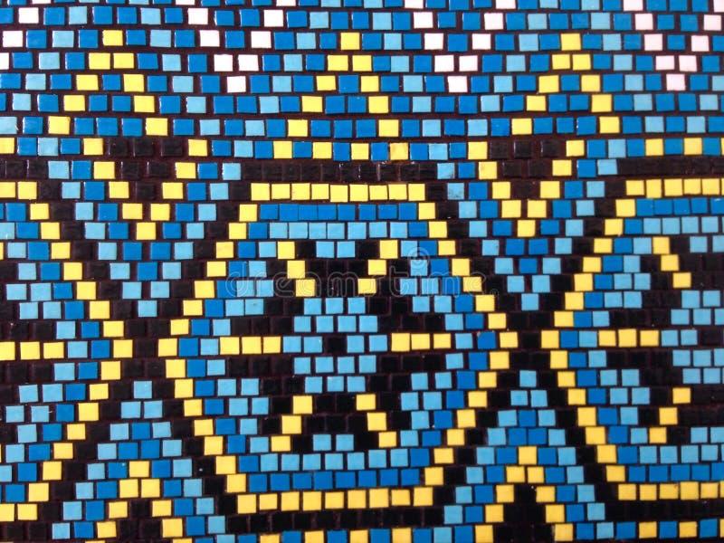 Muster eines bunten Mosaiks in der Ostart stockfotografie