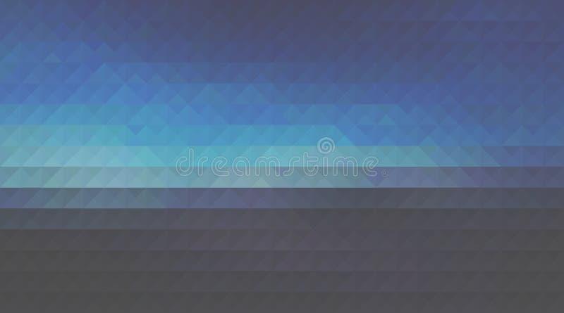 Muster-Entwurfshintergrund des Dreiecks polygonaler, moderne Darstellung stock abbildung