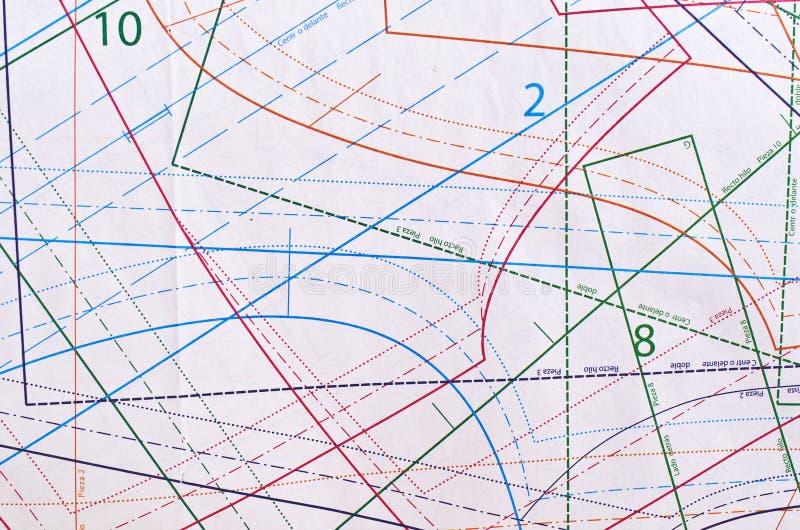 Muster Für Das Nähen Der Hintere Brenner Stockfoto - Bild von ...