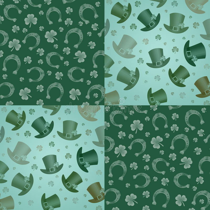Muster für St Patrick stock abbildung
