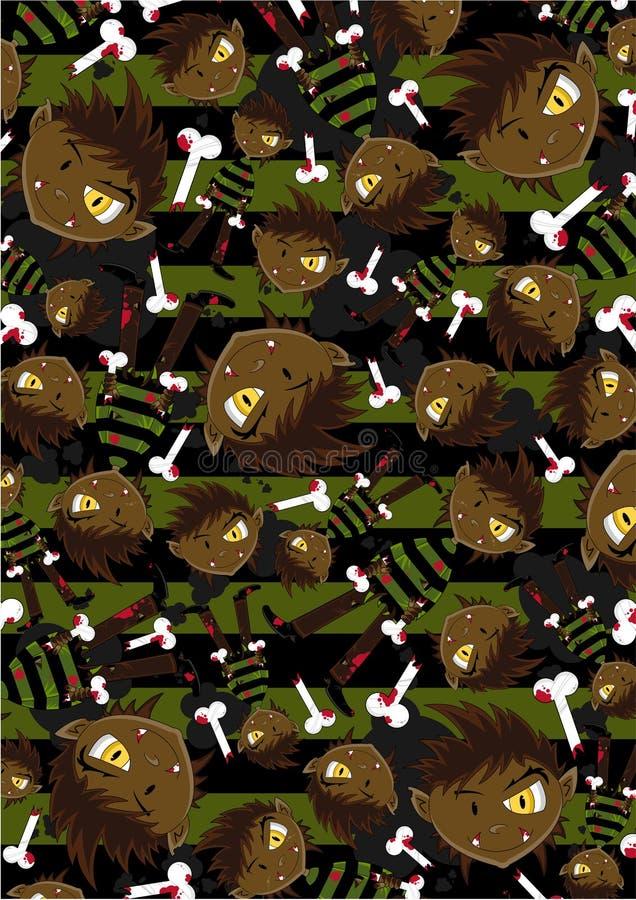 Muster Halloweens Wolfman stock abbildung