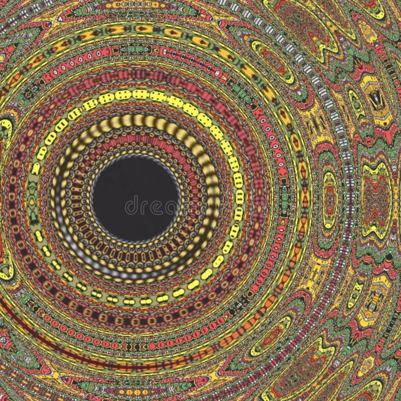 Muster-Hintergrund expolosion des Mandalakaleidoskops buntes stockbild