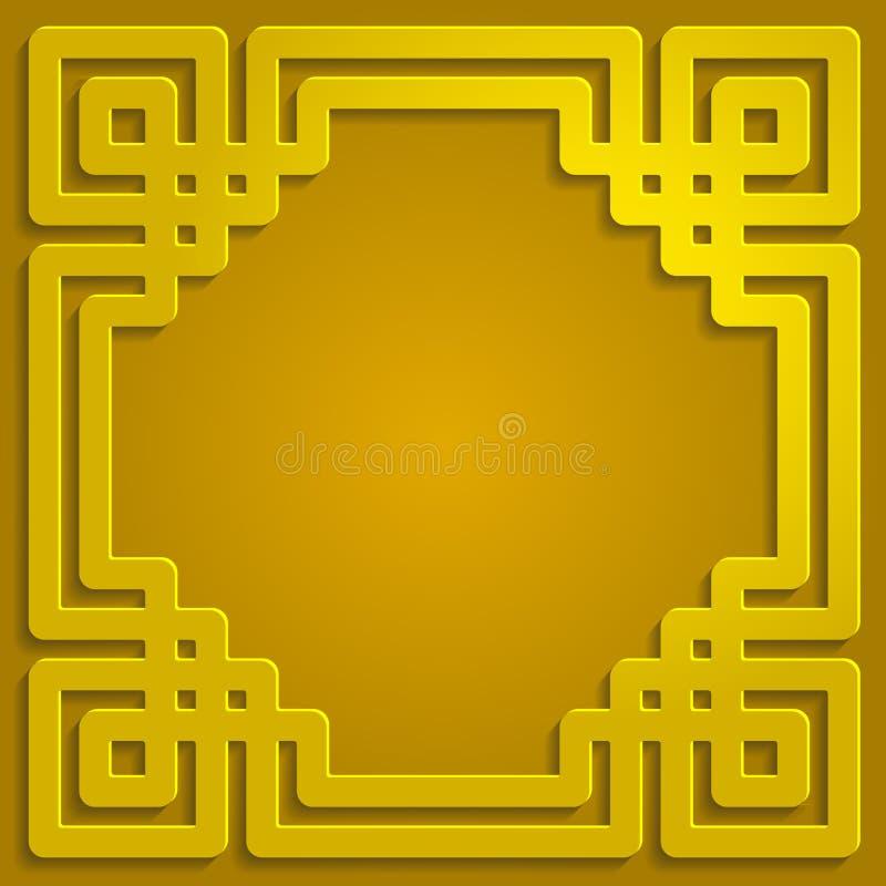 Muster-Hintergrundillustration der Goldschattenverzierung islamische stockfoto