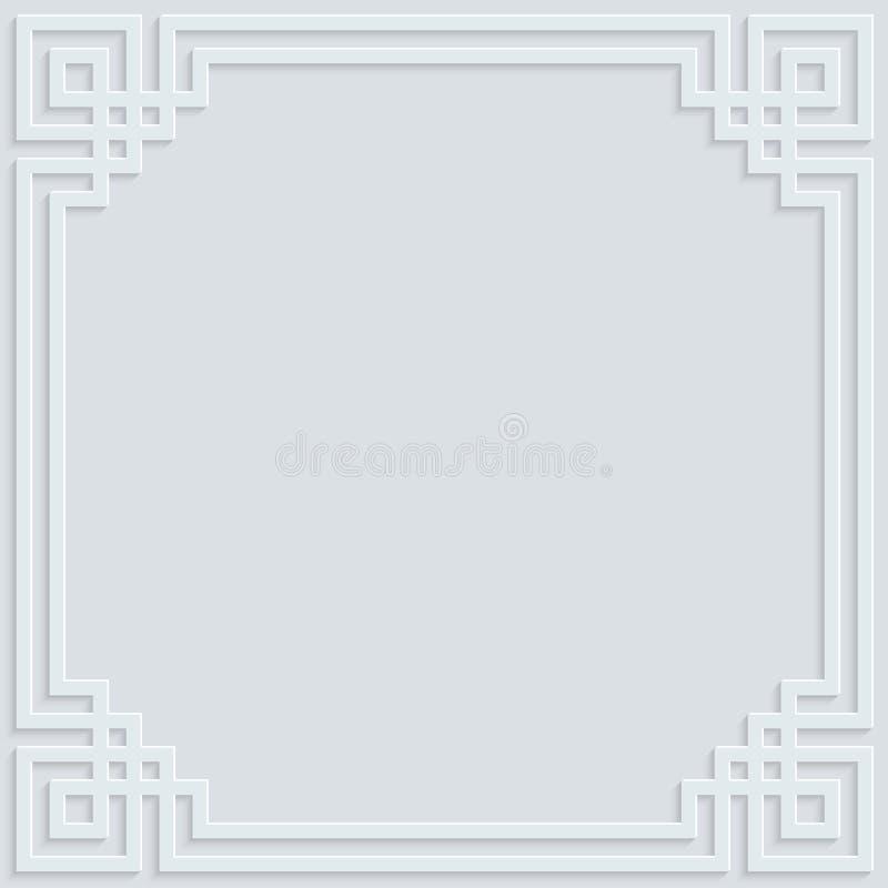 Muster-Hintergrundillustration der weißen Rahmenverzierung islamische stockfotos