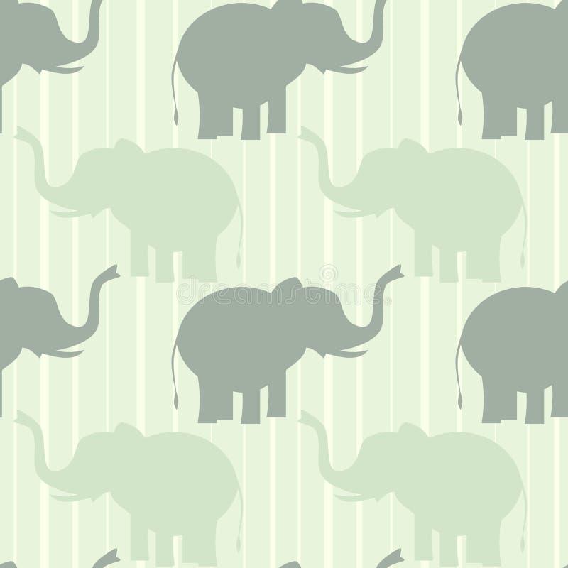 Muster-Hintergrundillustration des netten Pastellelefanten nahtlose lizenzfreie abbildung