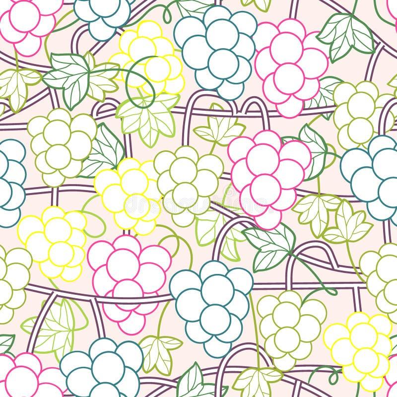 Muster-Hintergrundvektor der s??en Weinreben nahtloser vektor abbildung