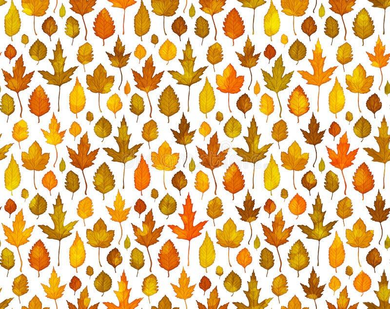 Muster-Hintergrundvektor des Herbstlaubs nahtloser vektor abbildung