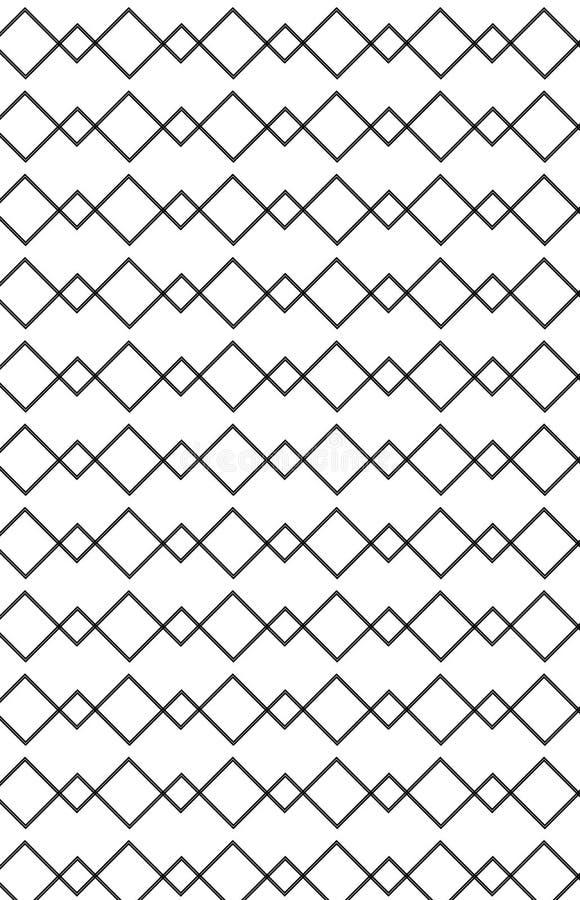 Muster im Zickzack mit der Zeile Schwarzweiss vektor abbildung