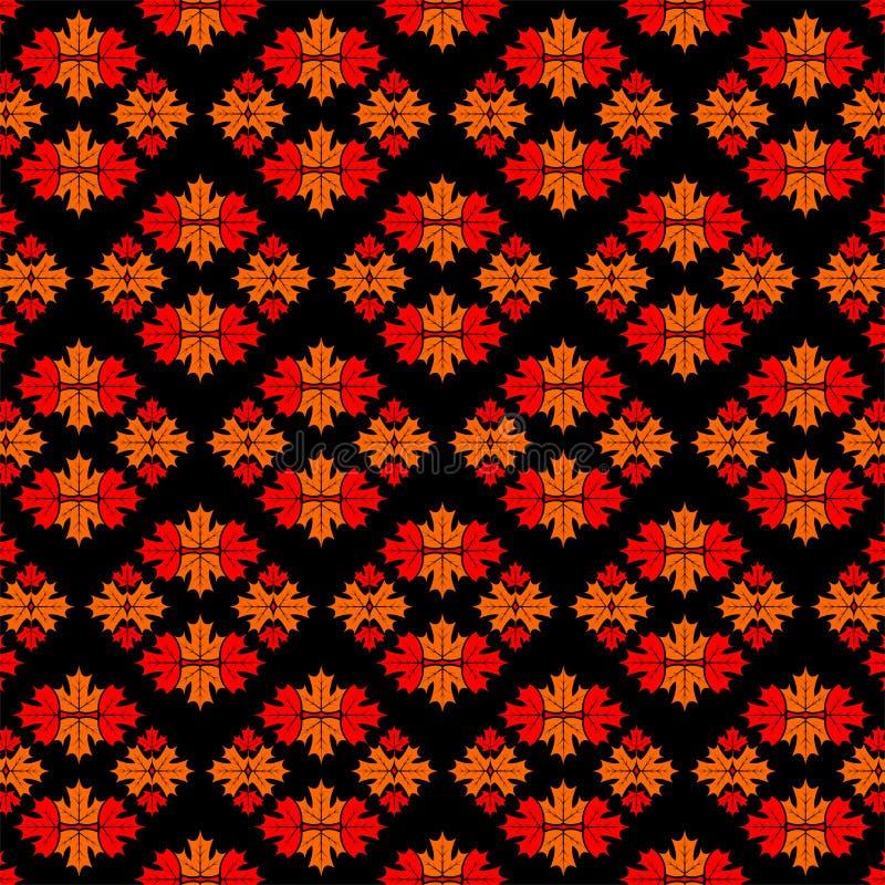 Muster mit Ahornblättern Auch im corel abgehobenen Betrag stock abbildung