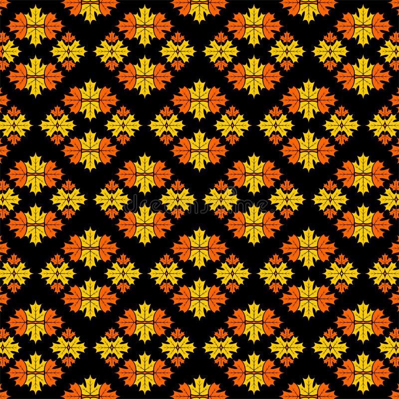 Muster mit Ahornblättern Auch im corel abgehobenen Betrag vektor abbildung