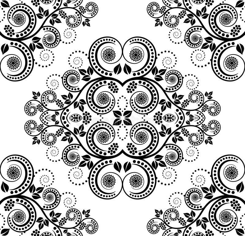 Muster Mit Betriebsdekoration Stockfotografie