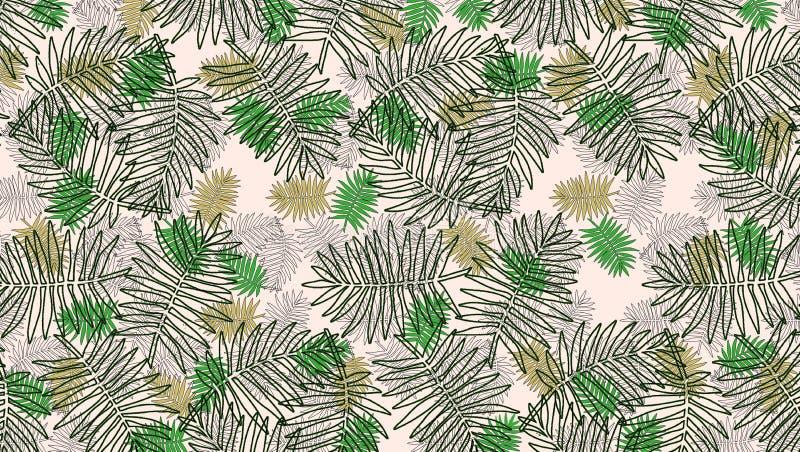 Muster mit bunten Blättern von Anlagen lizenzfreie abbildung