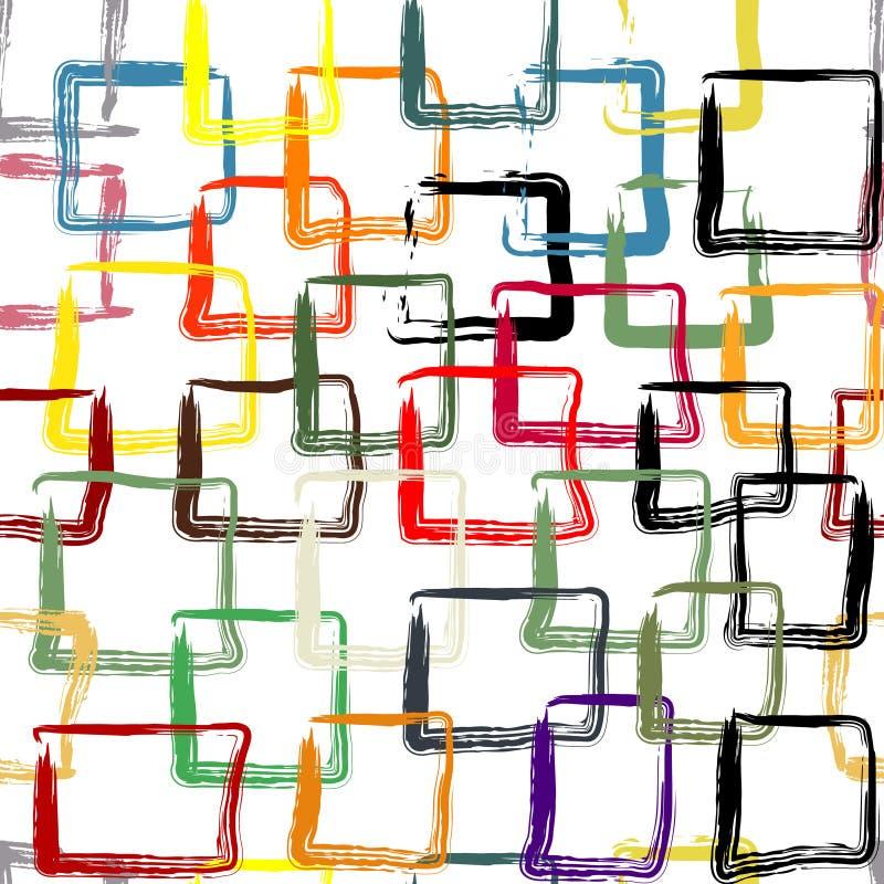Muster mit bunten gemalten Quadraten stockfoto