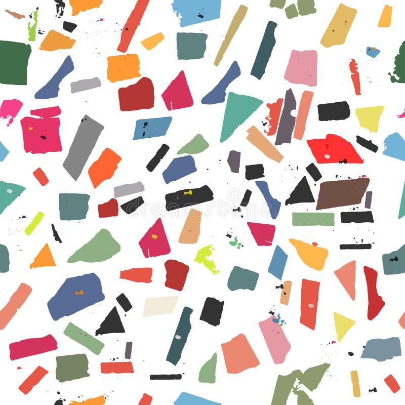 Muster mit bunten Zahlen stockfotografie