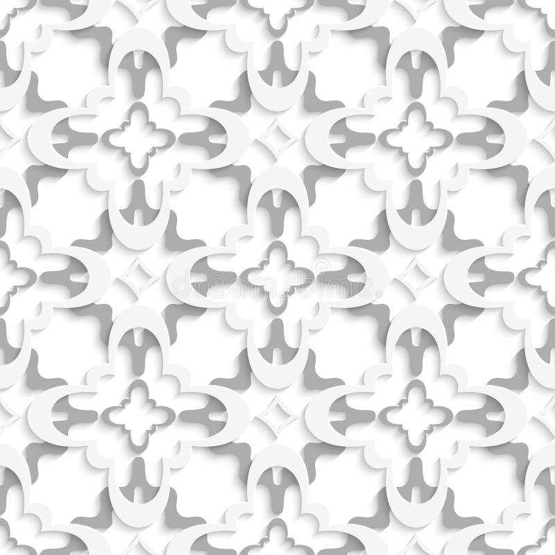 Muster mit den weißen und grauen Schichten vektor abbildung