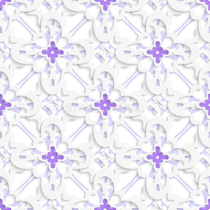 Muster mit den weißen und purpurroten Schichten lizenzfreie abbildung
