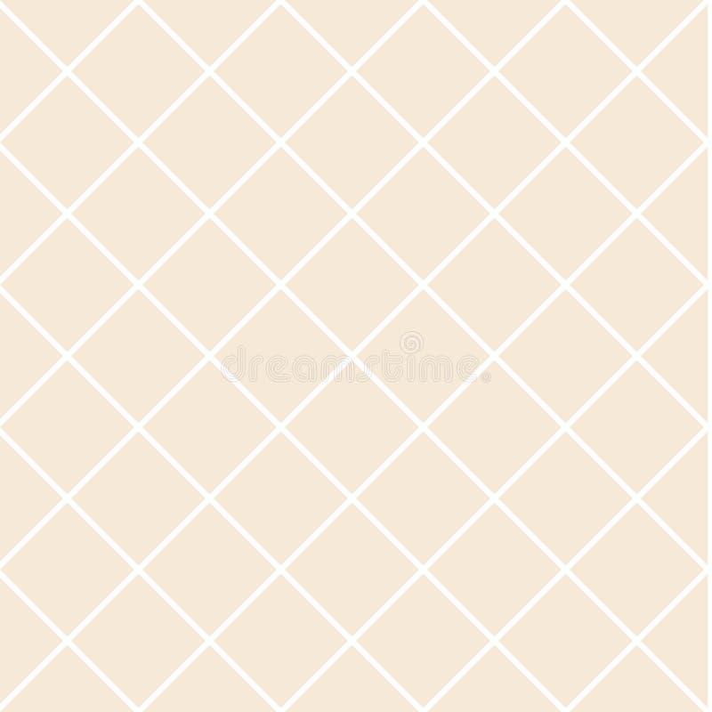 Muster mit der Masche, Gitter Nahtloser vektorhintergrund Abstrakte geometrische Beschaffenheit Rautentapete lizenzfreie abbildung
