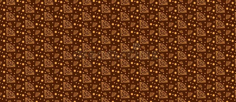 Muster mit Diamanten auf einem Braun vektor abbildung