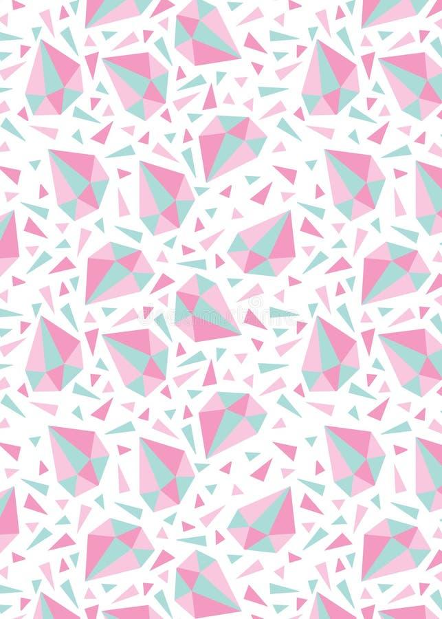 Muster mit Diamanten und Dreiecken stock abbildung