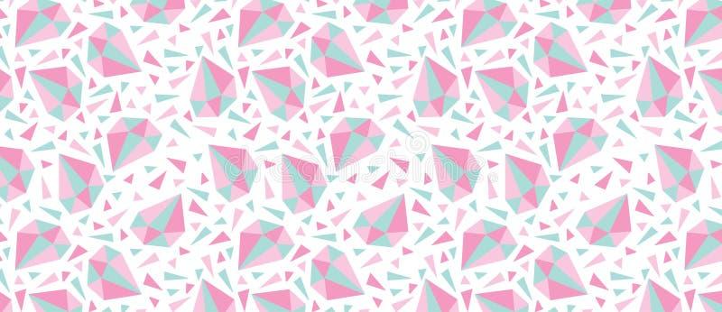 Muster mit Diamanten und Dreiecken lizenzfreie abbildung