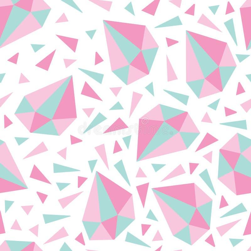 Muster mit Diamanten und Dreiecken vektor abbildung