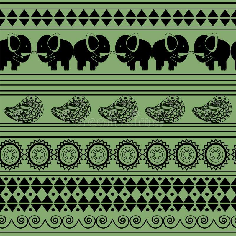 Muster mit Elefanten lizenzfreie abbildung