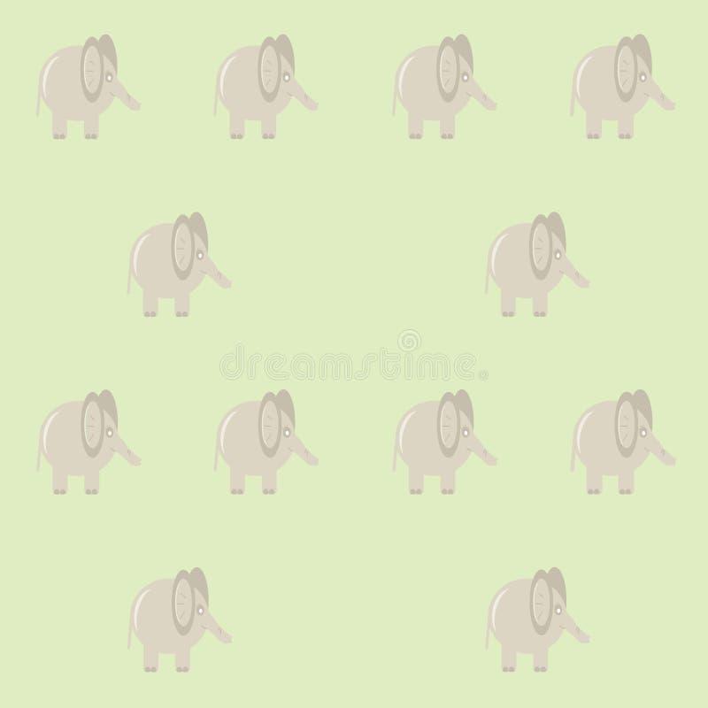 Muster mit Elefanten stock abbildung
