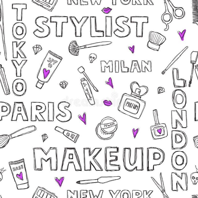 Muster Mit Handgeschriebenen Wörtern über Schönheit
