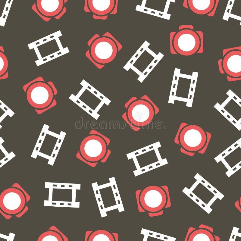 Muster mit Kameras und Film stock abbildung